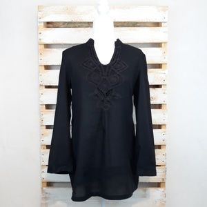 DANA BUCHMAN BLACK TUNIC TOP